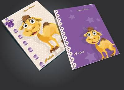جلد دفتر لایه باز کودک (طرح رو جلد دفتر )