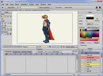 آموزش ساخت انیمیشن در برنامه Anime Studio