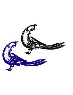 خوشنویسی بسم الله الرحمن الرحیم به شکل پرنده