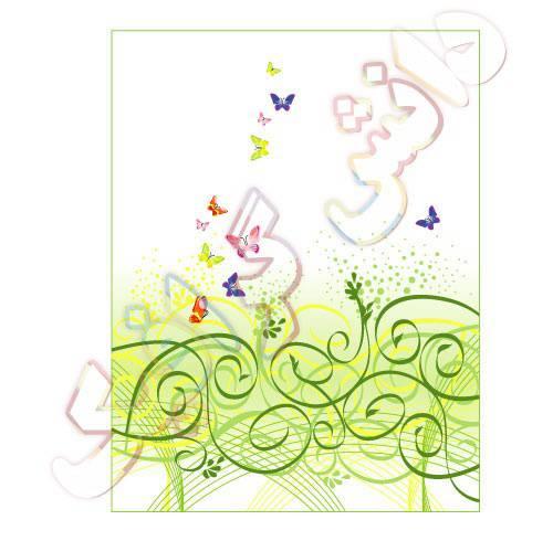 وکتور پروانه های رنگی در حال پرواز ai