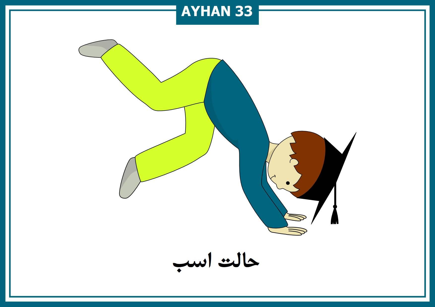 فلش کارتهای حالات اصلی ورزش یوگا به فارسی