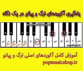 آکورد های  ارگ و پیانو