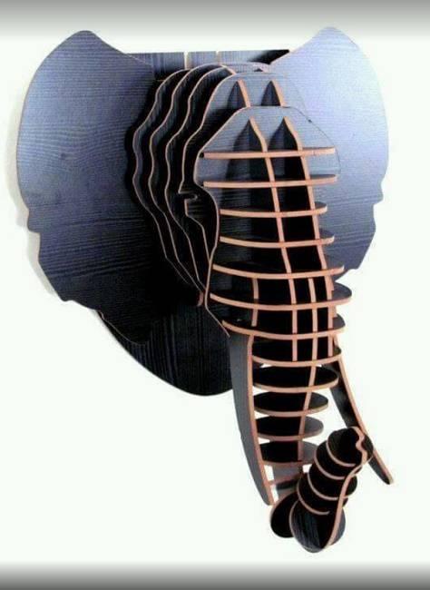 طرح دیوارکوب سر فیل
