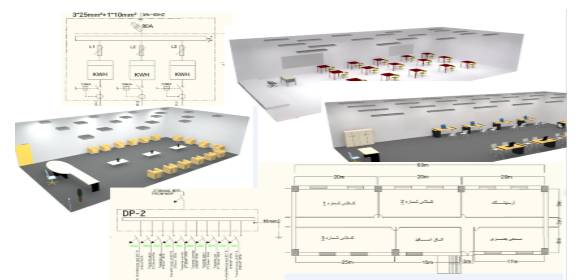 پروژه تاسیسات برق یک مدرسه سه طبقه