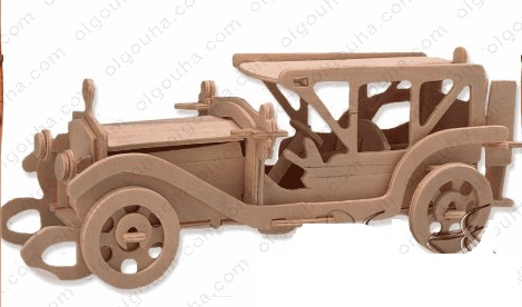 طرح معرق ماشین قدیمی