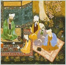 بررسی تطبیقی اثری از کمالالدین بهزاد با شعری از بوستان سعدی