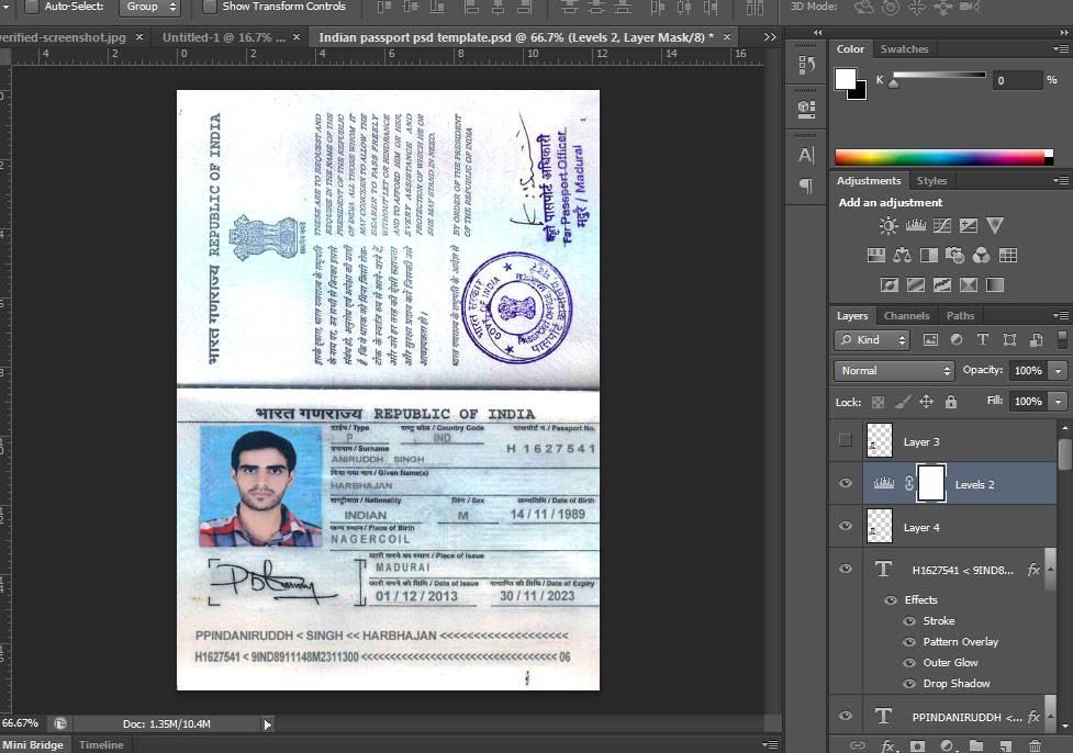 دانلود لایه باز پاسپورت هندوستان