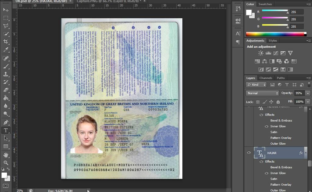 دانلود لایه باز پاسپورت ایرلند (پاسپورت بریتانیا کبیر)
