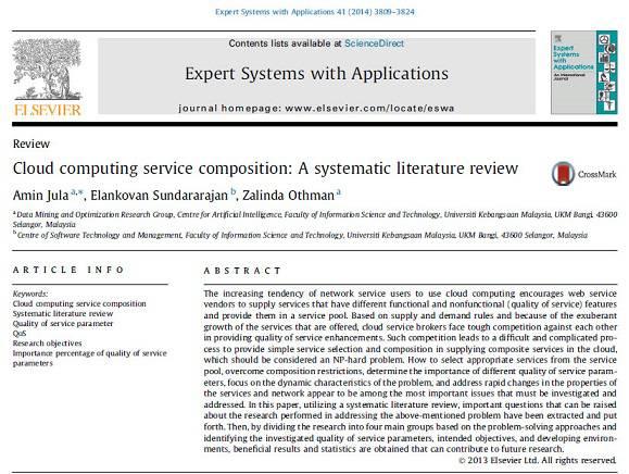 ترجمه مقاله انگلیسی : Cloud computing service composition: A systematic literature review