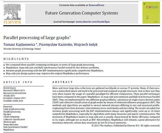 ترجمه مقاله انگلیسی: Parallel Processing of large graphs
