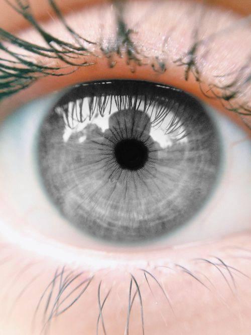 آموزش تغییر رنگ چشم طوسی