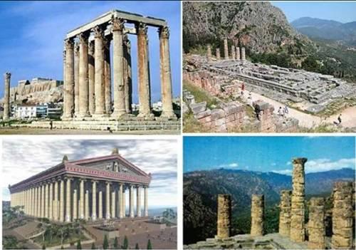 دانلود پاورپوینت پنج مورد از بناهای معروف يونان