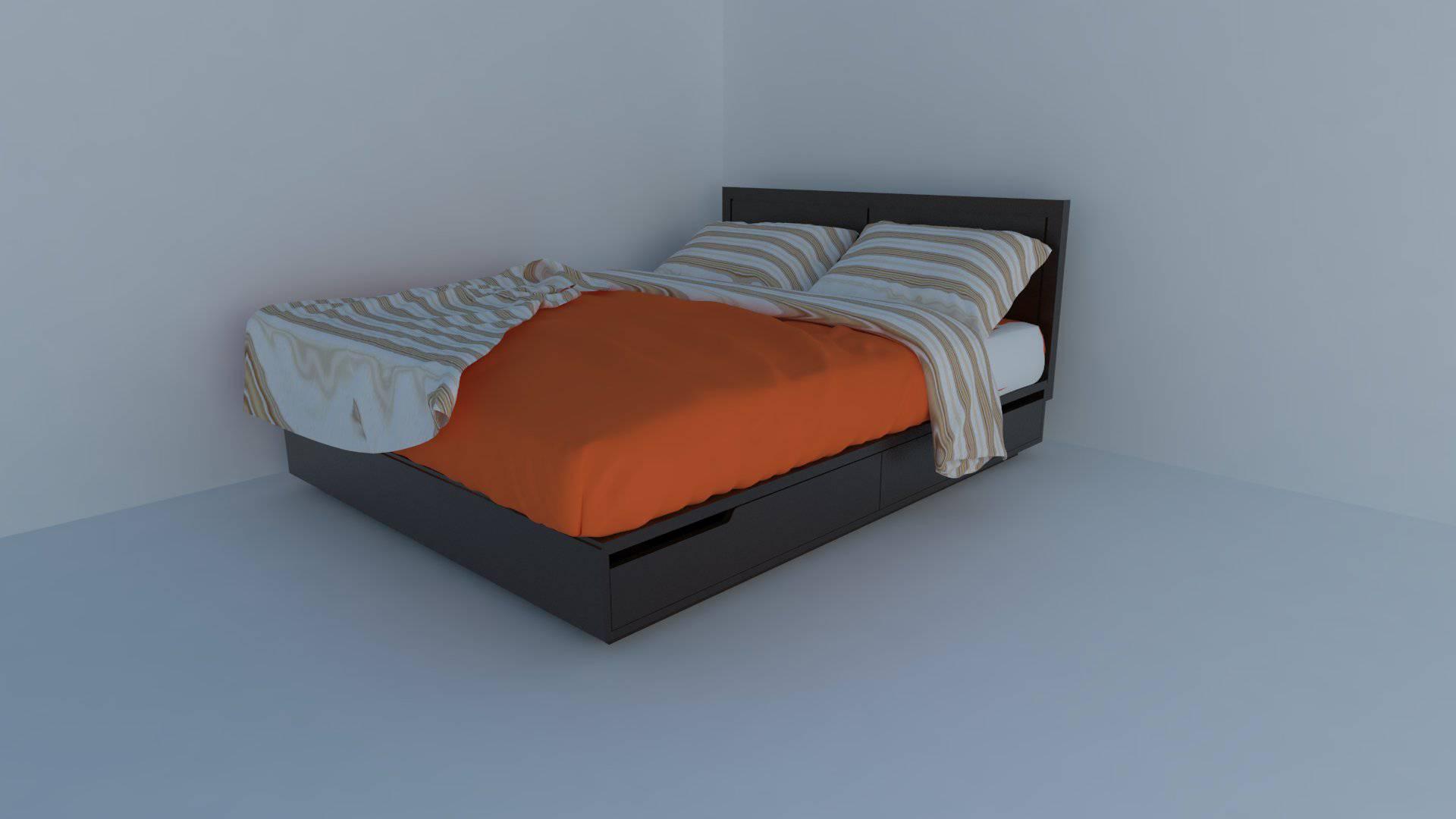 دانلود آبجکت های تخت خواب در اسکچاپ