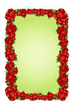 دانلود وکتور قاب گل قرمز
