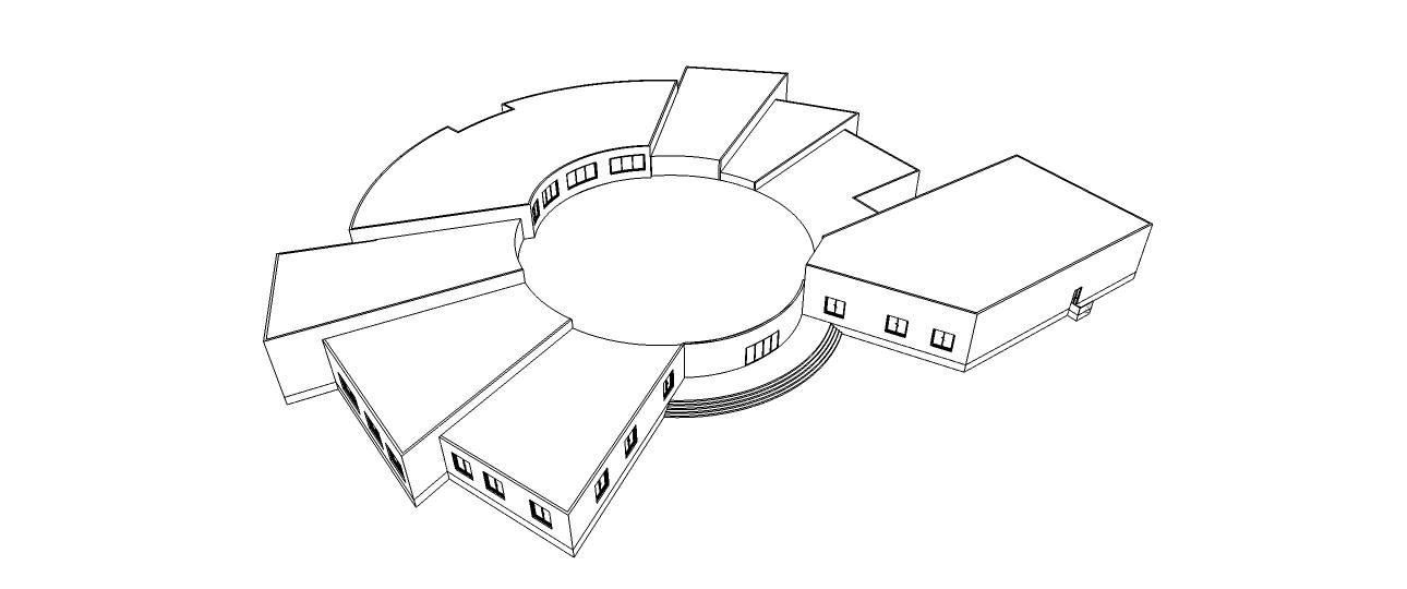 دانلود پلان فرهنگسرا به همراه فایل سه بعدی