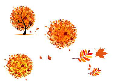 طرح وکتور درخت پاییزی