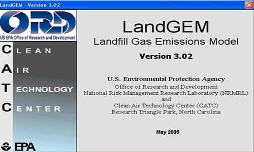 نرم افزار Landgem جهت محاسبه گازهای حاصل ازلندفیل