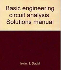 دانلود حل المسائل کتاب تحلیل مدار مهندسی دیوید ایروین David Irwin