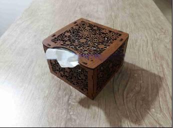 طرح  لیزر جعبه دستمال کاغذی