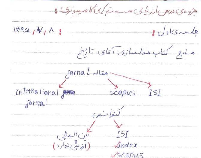 جزوه دستنویس و تایپی درس ارزیابی سیستم های کامپیوتری ، دکتر محسن محرمی