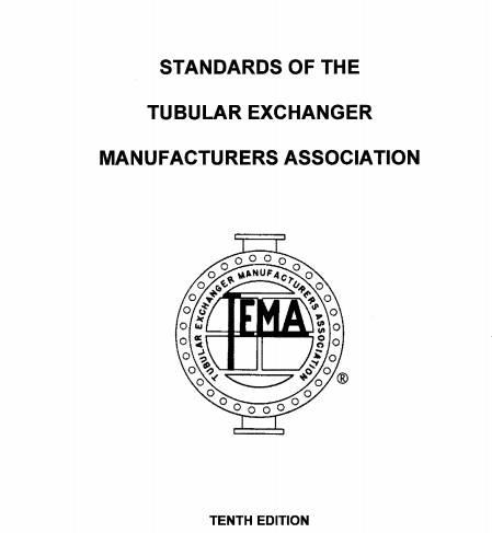 استاندارد طراحی مبدل های حرارتی پوسته لوله (TEMA) ورژن 2019