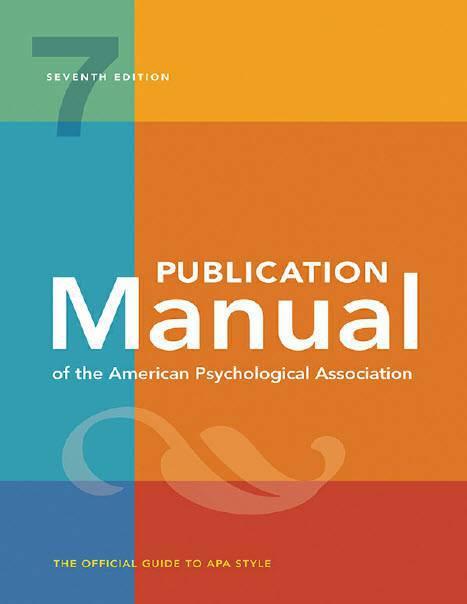 دانلود ویرایش هفتم کتاب Publication Manual