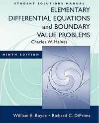 دانلود حل المسائل معادلات دیفرانسیل مقدماتی بویس William Boyce