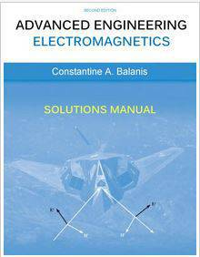 حل المسائل الکترومغناطیس پیشرفته مهندسی بالانیس Balanis