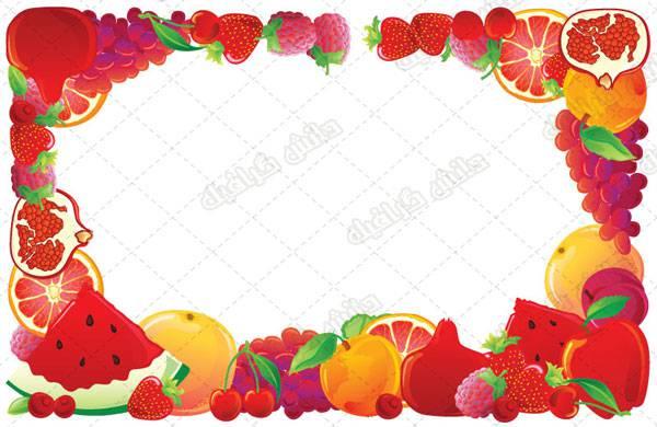 وکتور انواع  میوه با فرمت eps