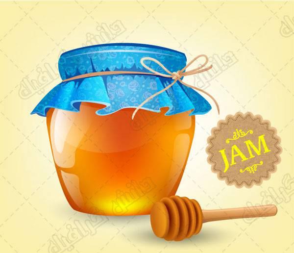 وکتور ظرف شیشه ای عسل