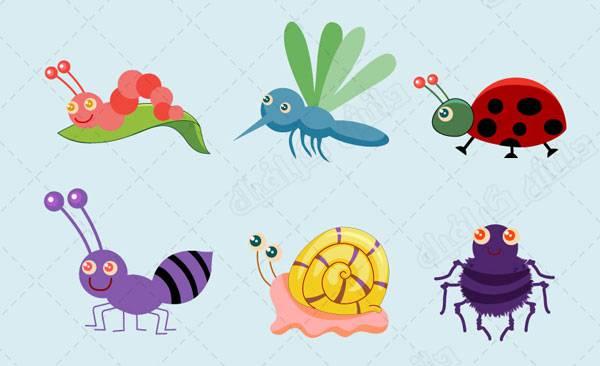 طرح وکتور حشرات