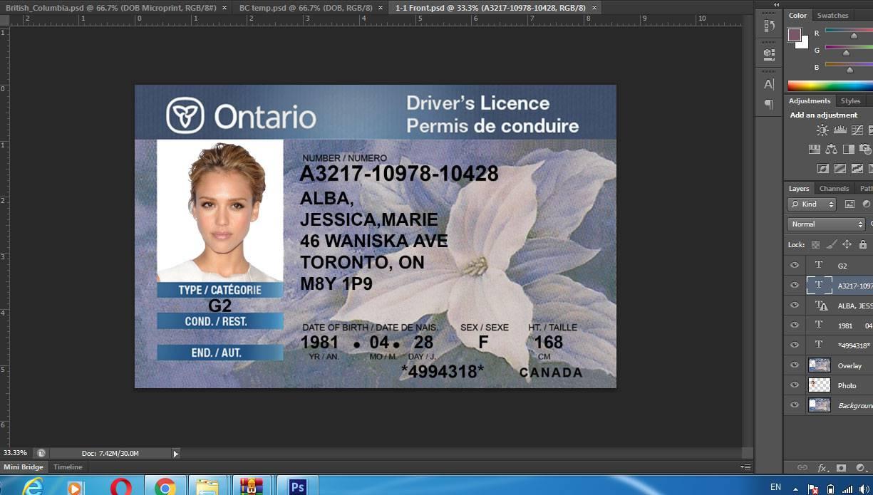 دانلود گواهینامه رانندگی کانادا