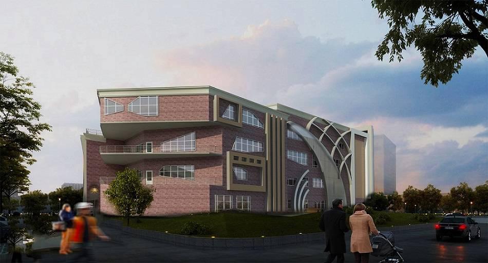 دانلود پروژه کامل دانشکده معماری به همراه تری دی