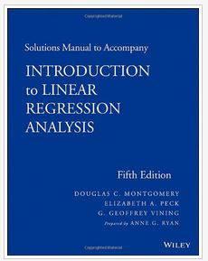 دانلود حل المسائل کتاب آنالیز رگرسیون خطی مونتگومری Montgomery