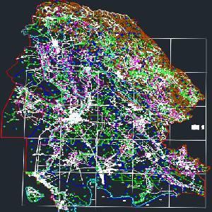 نقشه سیاسی استان خوزستان به صورت فایل اتوکد فرمت dwg