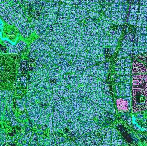 نقشه اتوکد شهر مادرید اسپانیا با جزئیات کامل با فرمت dwg