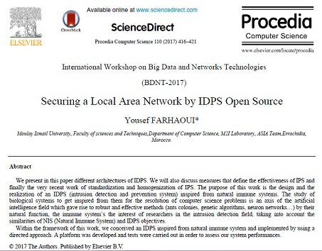 ترجمه مقاله انگلیسی: امن کردن یک شبکه منطقه محلی به وسیله IDPS منبع باز