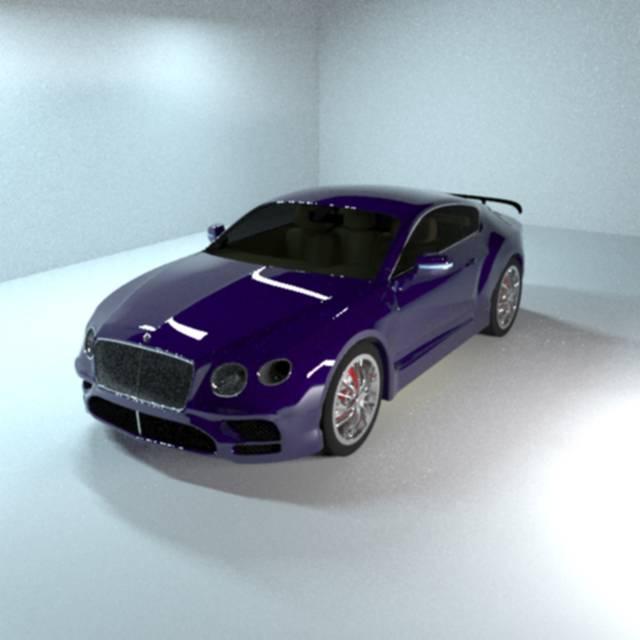 مدلینگ خودرو بنتلی کانتینانتال سوپر اسپرت جی تی 2019