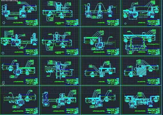 اتوکد دتایل های محوطه سازی و جدول کاری