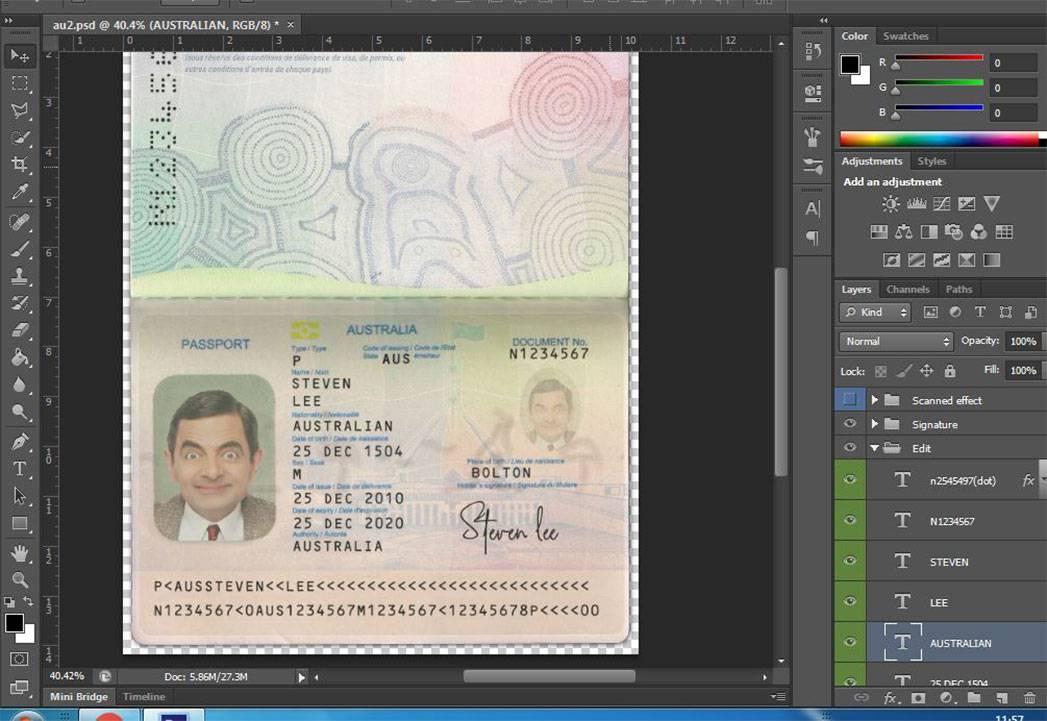 دانلود لایه باز پاسپورت جدید استرالیا