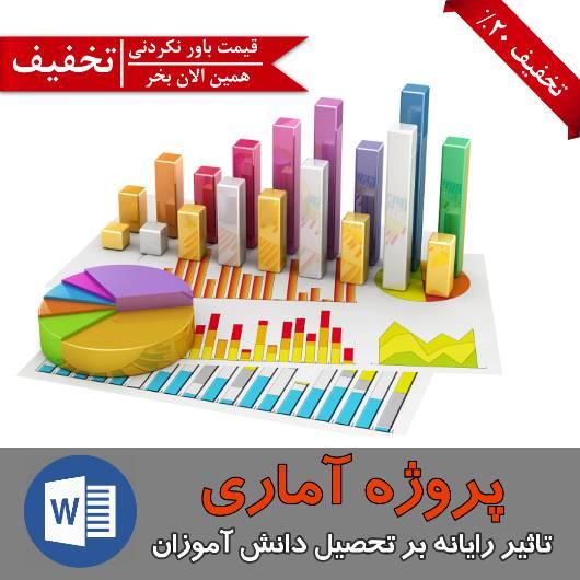 پروژه آماری (تاثیر رایانه بر تحصیل دانش آموزان)