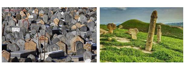 مقایسه تطبیقی نقوش حجاری شده سنگ قبرهای گورستان سفیدچاه و خالدنبی