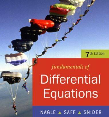 دانلود حل المسائل کتاب مبانی معادلات دیفرانسیل کنت ناگل و ادوارد ساف