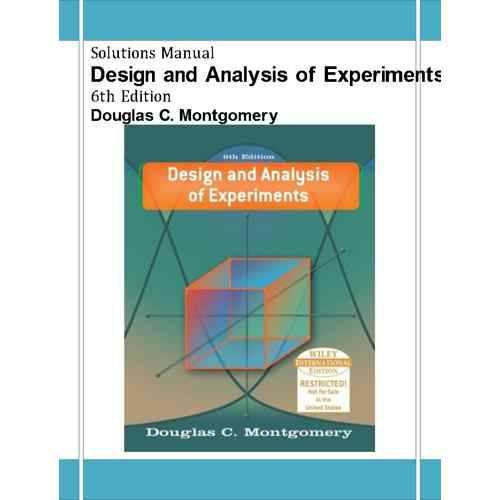 دانلود حل المسائل طراحی و تحلیل آزمایش ها مونتگومری Douglas Montgomery