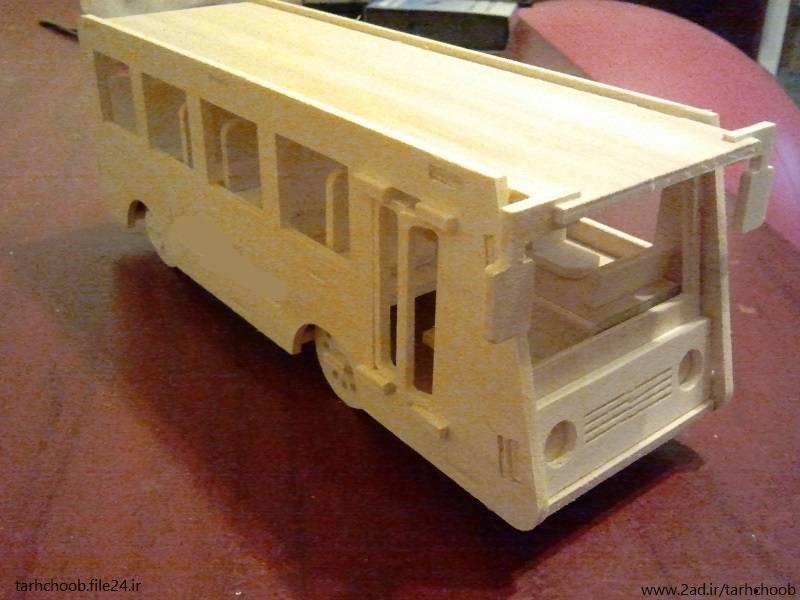 طرح مشبک اتوبوس