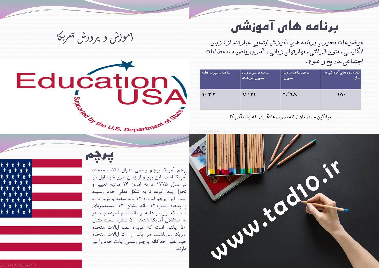 پاورپوینت آموزش و پرورش آمریکا