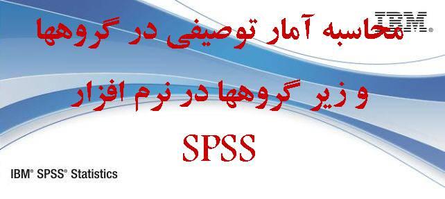محاسبه آمار توصیفی در گروهها و زیر گرو ها در نرم افزار SPSS