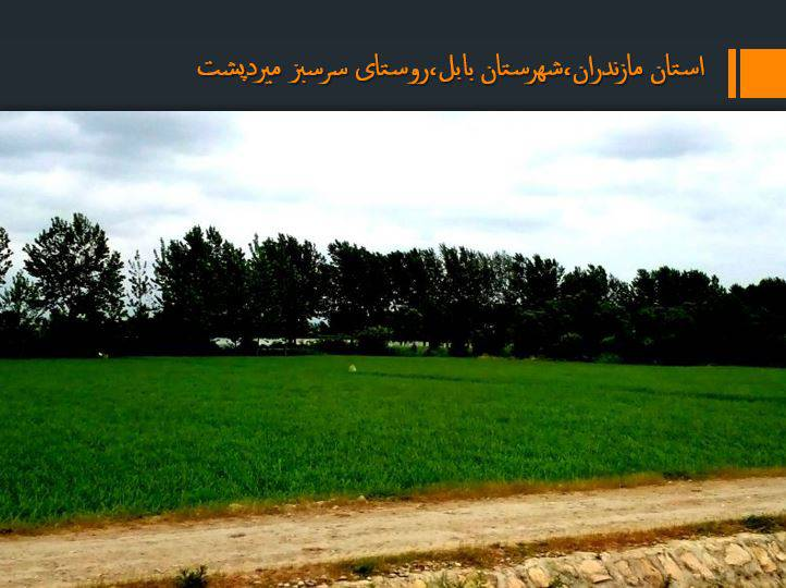 دانلود پروژه پاورپوینت روستای (میرود پشت)در استان مازندران،شهرستان بابل
