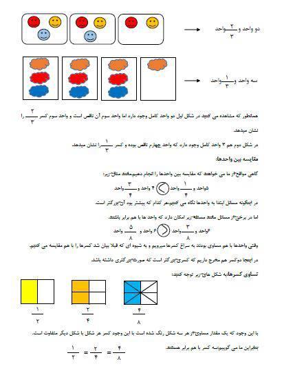 آموزش فصل سوم ریاضی سوم ابتدایی