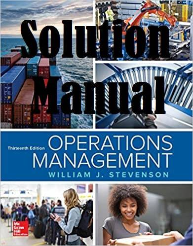 حل المسائل کتاب مدیریت عملیات ویلیام استیونسون WILLIAM STEVENSON
